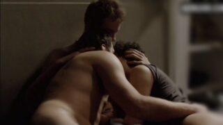 Hot movie scene of horny gay threesome sex