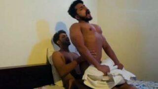 Gay blue film scene of sexy desi muscle hunk