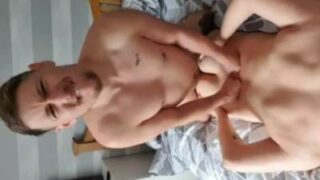 Gay step brothers fucking each other at home