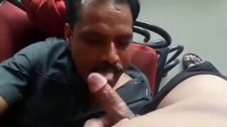 Daddy sucking dick of a horny Indian man